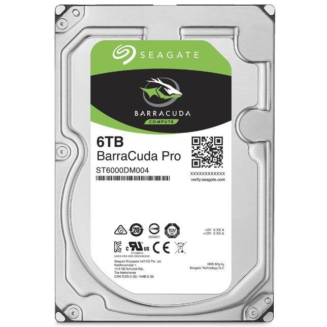 "Seagate BarraCuda PRO 3.5"" HDD, 6TB, 3.5"", SATAIII, 256MB cache, 7.200RPM"
