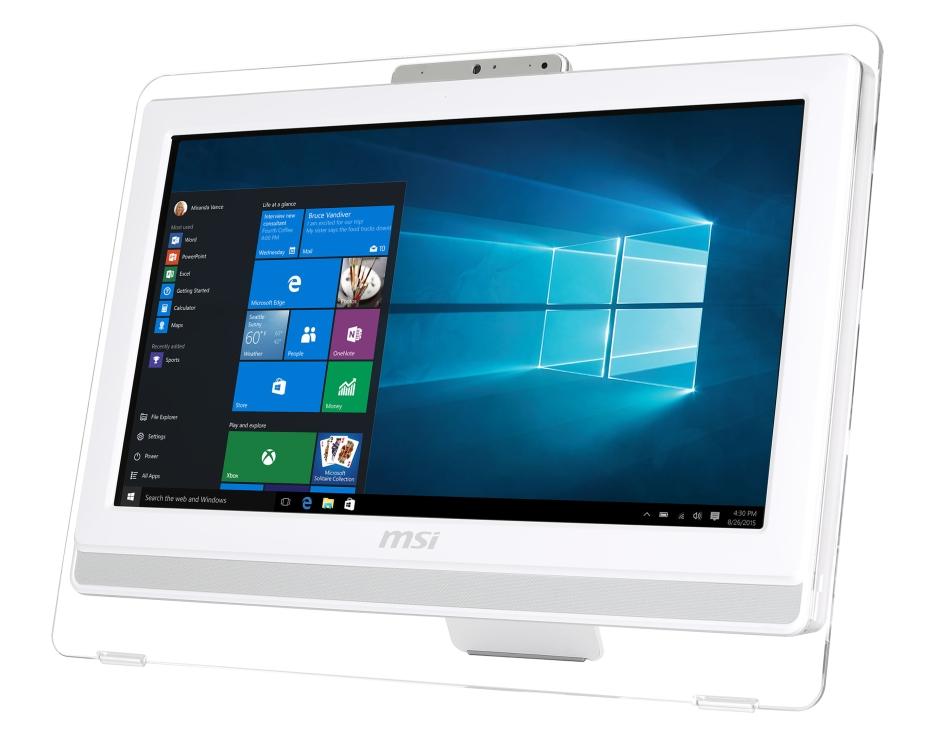 """MSI AIO Pro 20E 4BW-047XEU 19.5"""" Non-Touch/1600x900/Celeron N3160/4GB/1TB 7200 o"""