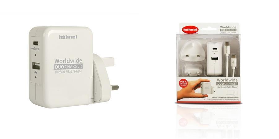 Hähnel Worldwide Duo Charger - cestovní nabíječka s USB-C a USB-A výstupem
