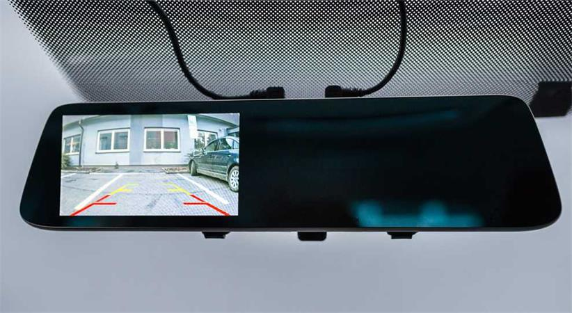 CEL-TEC M6 DUAL - duální palubní kamera ve zpětném zrcátku, Full HD, microSDXC,
