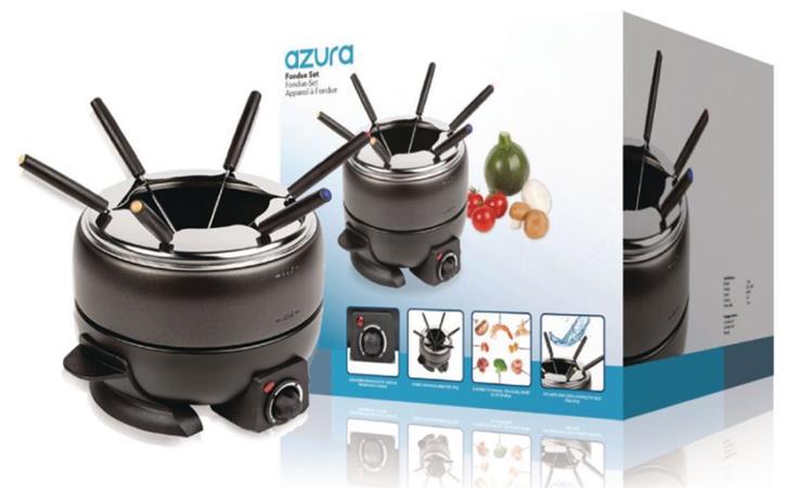 AzurA AZ-FC10 - sada na fondue pro 6 osob, s termostatem, 2.3 litrů