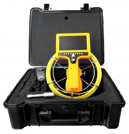 """CEL-TEC PipeCam 20 Verso - inspekční kamera, SD/SDHC, LCD 7"""", kabel 20m"""