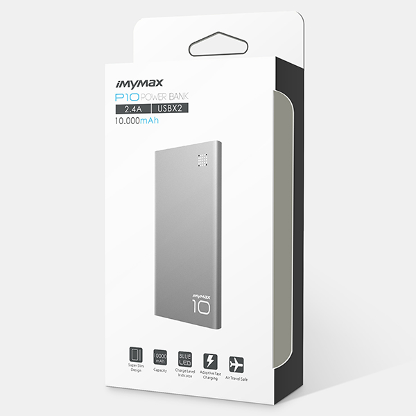 iMyMax P10 Power Bank 10.000mAh, Grey