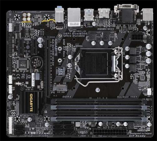 GIGABYTE MB Sc LGA1151 B250M-DS3H, Intel B250, 4xDDR4, VGA, mATX