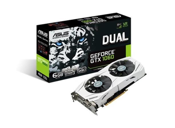 ASUS DUAL-GTX1060-6G - 6GB GDDR5 (192 bit), 2x HDMI, DVI, 2x DP