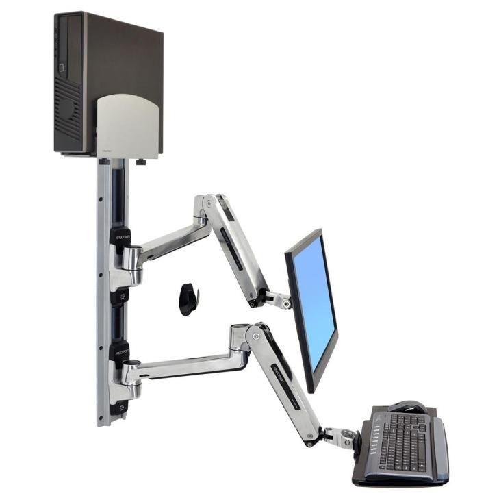 ERGOTRON LX SIT STAND WALL MOUNT SYSTEM, systém držáků na zeď, monitor (all in o