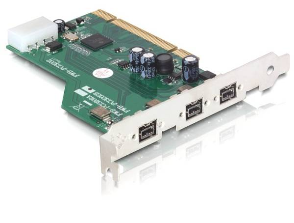 Delock PCI Card > FireWire B 3 Port (IEEE 1394b) with jackscrew