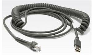 Kabel Motorola LS2208/LS4208, kroucený kabel, USB, 2,8m