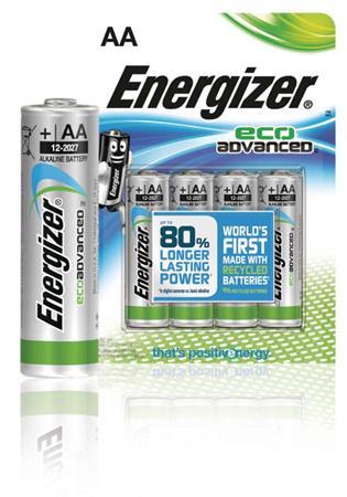 Energizer EN-53541071600 - Alkalická Baterie AA 1.5 V Eco Advanced, 4 kusy