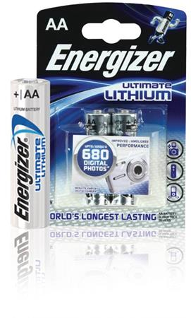 Energizer ENLITHIUMAAP2 - Lithiová Baterie AA 1.5 V Ultimate, 2 kusy