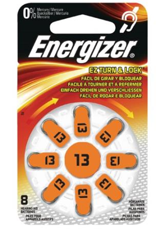 Energizer ZA13 - baterie do naslouchadel, 8 kusů