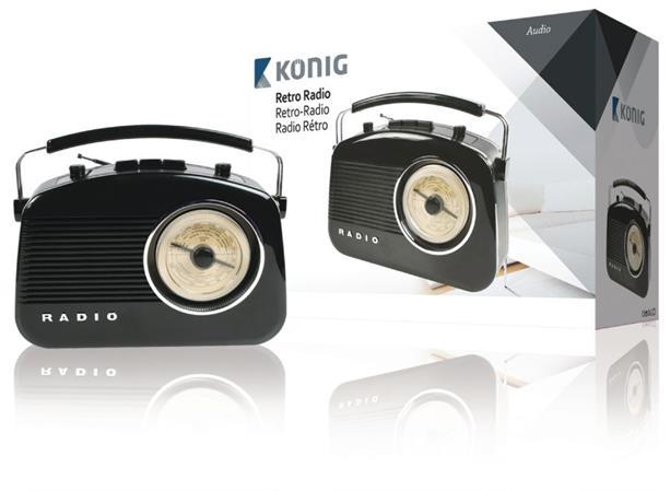 König HAV-TR710BL - Přenosné FM rádio FM / AM, černá