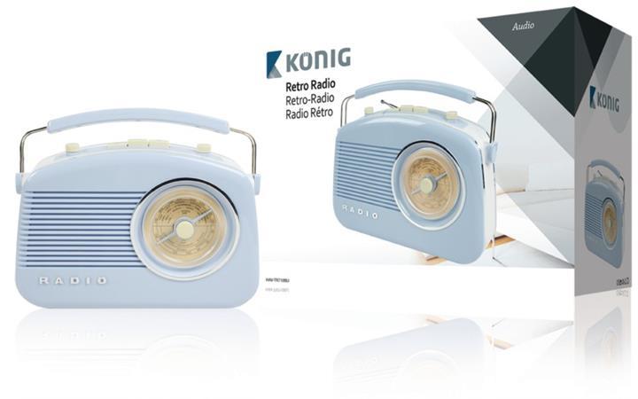 König HAV-TR710BU - Přenosné FM rádio FM / AM Modrá