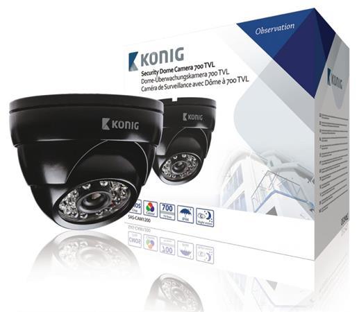 König SAS-CAM1200 - Kopulová CCTV kamera 700 TVL, černá