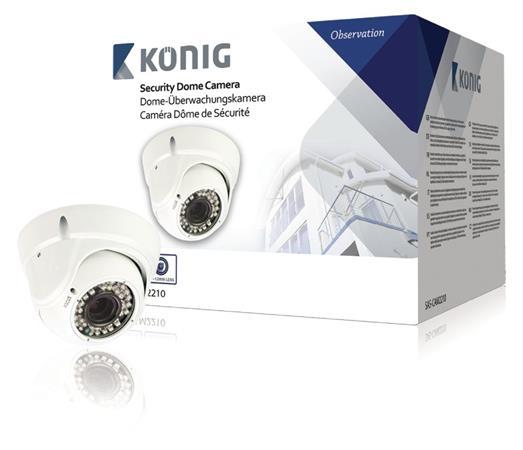 König SAS-CAM2210 - Kopulová CCTV kamera 700 TVL Bílá