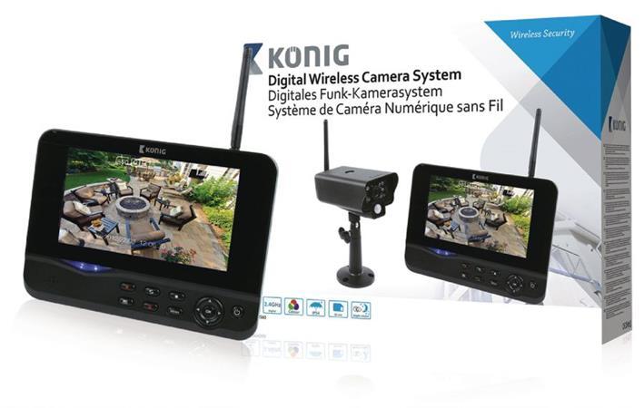 König SAS-TRANS60 - Digitální Bezdrátová Pozorovací Sada 2.4 Ghz - 1x Kamera