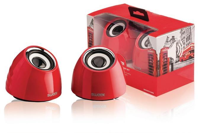 Sweex SW20SPS100RD - Reproduktor 2.1 USB 3.5 mm 6 W Červená