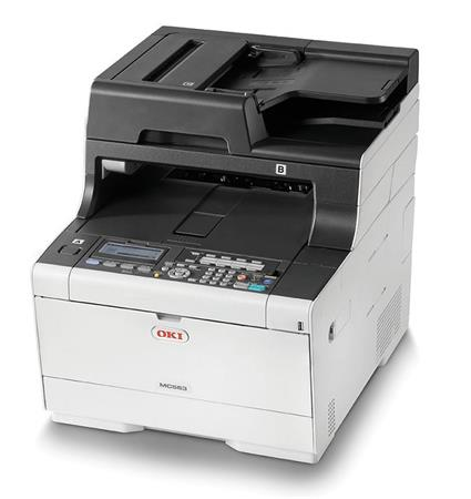 OKI MC563dn A4 30/30 ppm, 1200x1200dpi, 1GB RAM, RADF, USB 2.0 LAN, (Print/Scan/