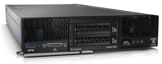 Lenovo Flex System x240 M5 Compute Node Xeon 12C E5-2650v4 105W 2.2GHz/2400MHz/3