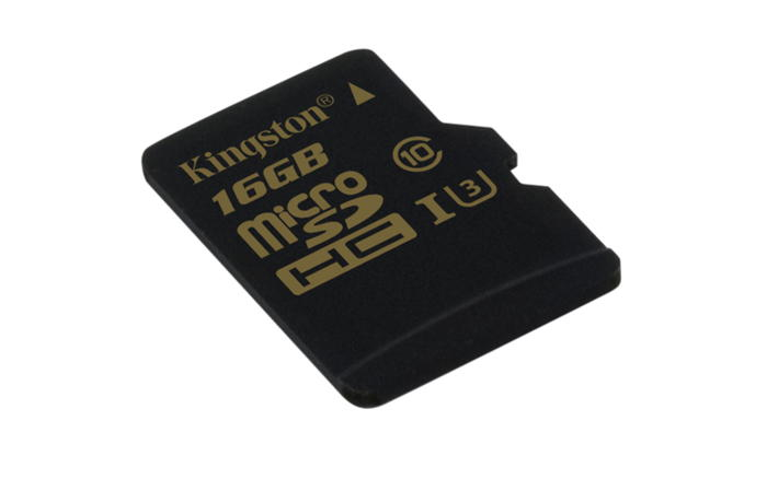 KINGSTON 16GB microSDHC Class U3 UHS-I 90R/45W Single Pack bez adapteru