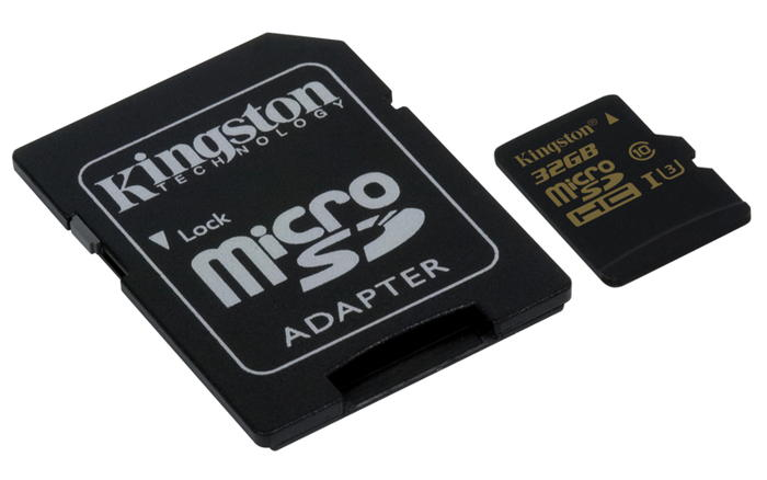 KINGSTON 32GB microSDHC Class U3 UHS-I 90R/45W + SD Adapter