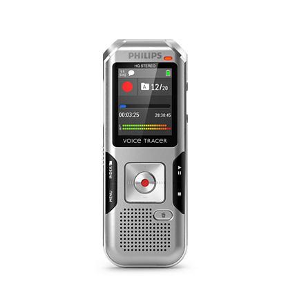 Philips digitální záznamník DVT4010 - 8GB, USB, microSDHC až 32GB, barevný displ