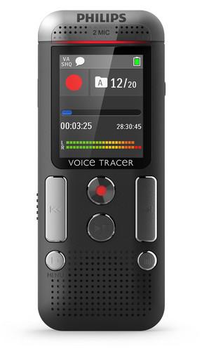 Philips digitální záznamník DVT2510 - 8GB, USB, microSDHC až 32GB, MP3, barevný