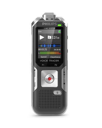 Philips digitální záznamník DVT6010 - 8GB, USB, microSDHC až 32GB, FM, barevný d