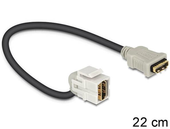 Delock Keystone modul HDMI samice > HDMI samice 110° s kabelem