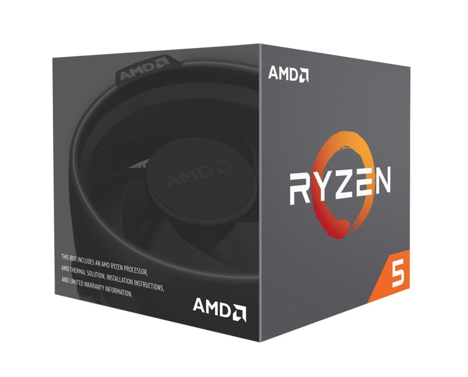 AMD cpu Ryzen 5 1500X Box AM4 (4core, 8x vlákno, 3.5GHz / 3.7GHz, 16MB cache, 65