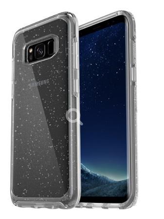 Otterbox plastové ochranné pouzdro pro Samsung S8 - průhledné se stříbrnáma tečk