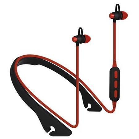 PLATINET IN-EAR sportovní bluetooth sluchátka PM1065 s mikrofonem červená