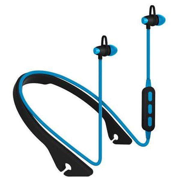 PLATINET IN-EAR sportovní bluetooth sluchátka PM1065 s mikrofonem modré