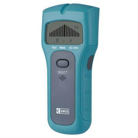 Emos Multidetektor M0501 - detekce skrytých předmětů ve zdi (dráty, kov, dřevo)