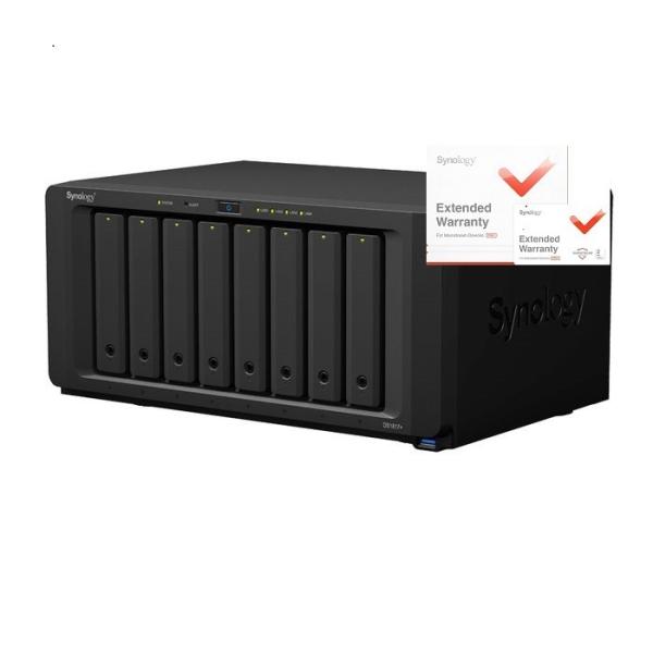 Synology DS1817+ DiskStation, 8GB RAID 8xSATA server, rozšířená záruka 5 let