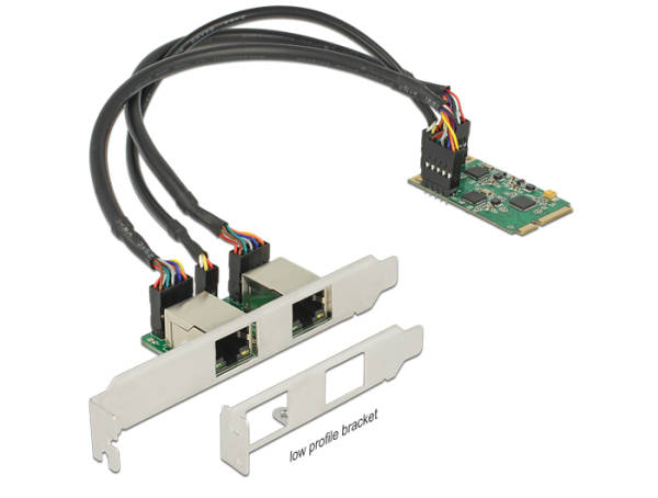 Delock Mini PCIe I/O PCIe full size 2 x Gigabit LAN Low Profile