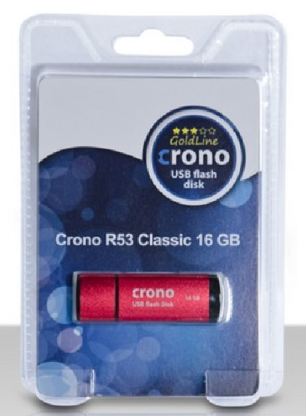 Crono R53 Classic 16GB Red - USB flash disk, červený