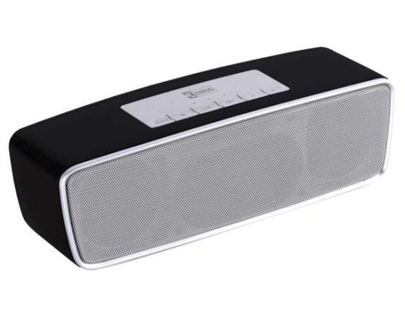 emGo TKL19 soundbox - FM rádio, MP3, USB, microSD přehrávač, Bluetooth, černá