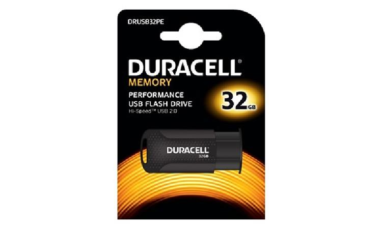 Duracell DRUSB32PE 32GB USB 2.0 Flash Memory Drive