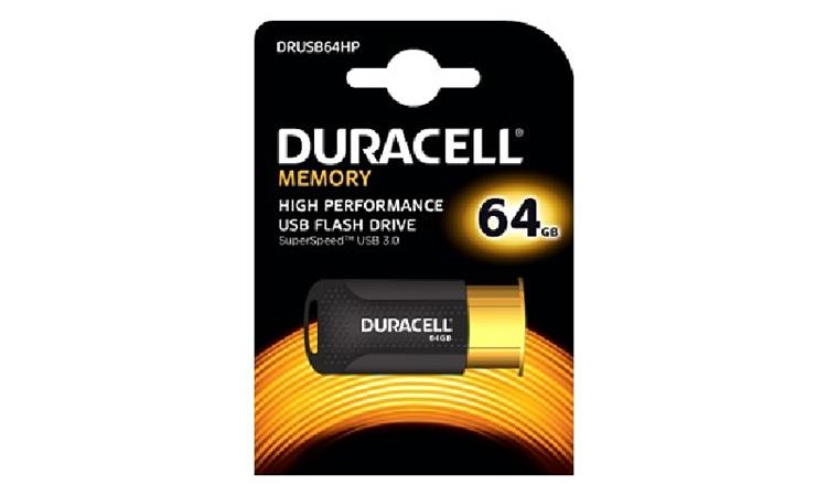 Duracell DRUSB64HP 64GB USB 3.0 Flash Memory Drive