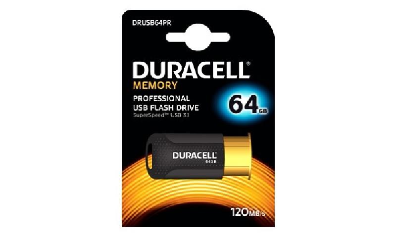 Duracell DRUSB64PR 64GB USB 3.1 Flash Memory Drive