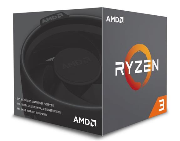 AMD cpu Ryzen 3 1200 Box AM4 (4core, 4x vlákno, 3,1GHz / 3,4GHz, 10MB cache, 65W