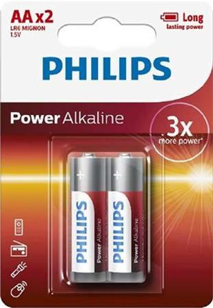 Philips baterie AA Power Alkaline, alkalická - 2ks