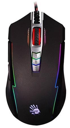 A4tech BLOODY P93, herní myš, ANIMATION GAMING, 5000DPI, USB, černá, nastaviteln