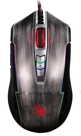 A4tech BLOODY P93, herní myš, ANIMATION GAMING, 5000DPI, USB, stříbrná, nastavit
