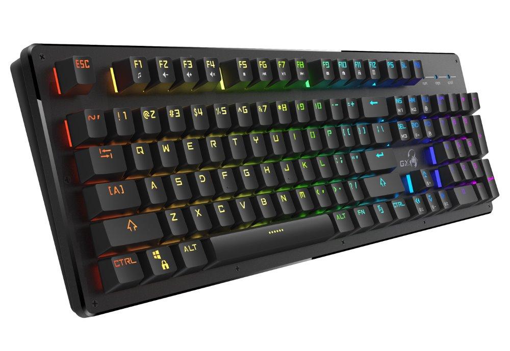 GENIUS GX GAMING Scorpion K10/ herní /drátová/ podsvícená/ USB/ černá/ CZ+SK lay