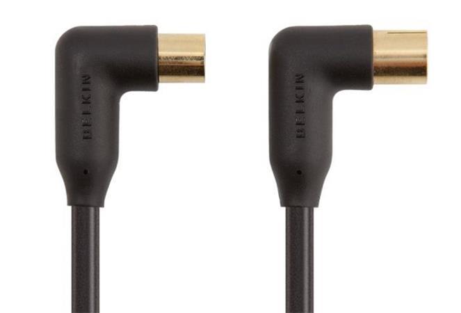 Belkin anténní koax kabel 90dB, 90stupňů - 2m zlacené konektory