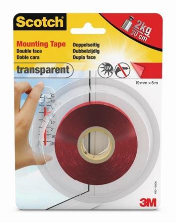 3M Scotch® Transparent montážní páska, 19mm x 5m (40041950A)