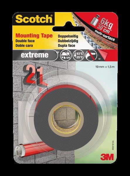3M Scotch Extreme Mounting Tape 40021915C 19mm x 1,5m