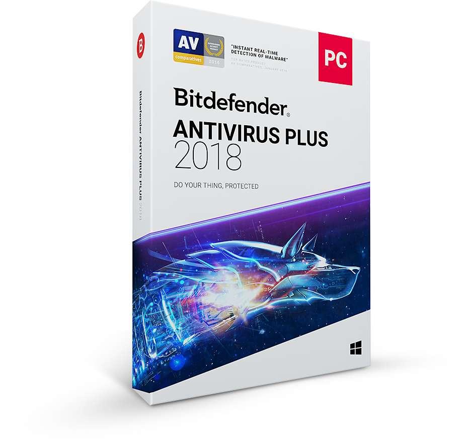 Bitdefender Antivirus Plus 2018 5 zařízení na 1 rok
